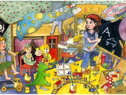 Wimmelbild Kinderzimmer